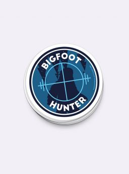 Bigfoot hunter target single sticker