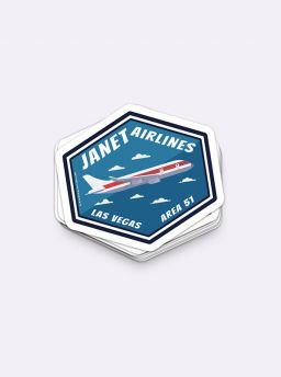 Janet airlines single sticker
