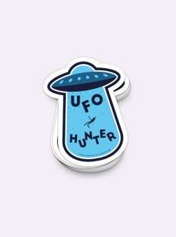 Ufo hunter B single sticker